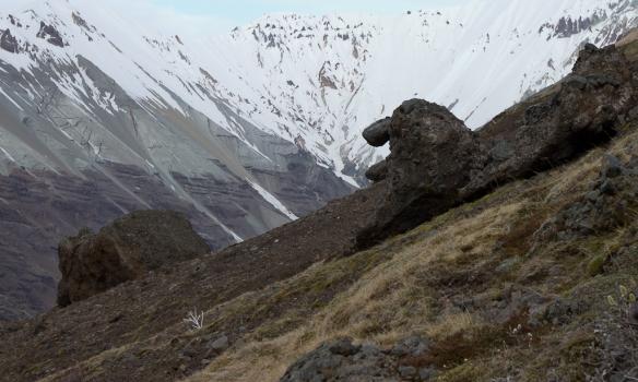 Fígúra á leið upp með Meingili