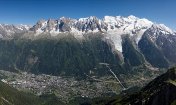 Mt Blanc Massif séð frá Le Brévent