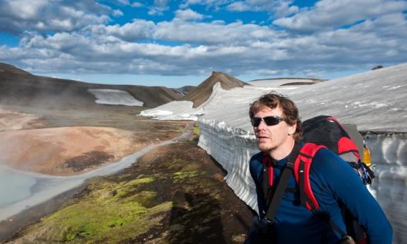 Einar við hverasvæði