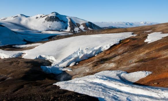 Flott hverasvæði við Kaldaklofsfjöll