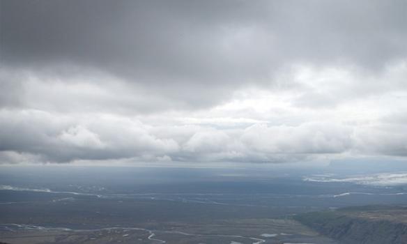 Þetta er ágætis leið þarna upp/niður, best er að fylgja hryggnum alla leið, annars lendir maður bara í löngum hliðarhalla.