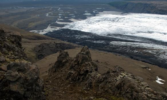 Spurning um að kalla þetta Gönguskarð, en þara fyrir neðan er jökulsporðurinn á Skaftafellsjökli.