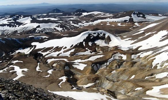 Flott svæði þarna í Kerlingafjöllum, þetta er háhitasvæði þannig að það eru mjög fallegir litir þarna.