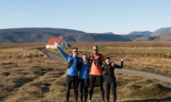 Hópurinn að loknum 32km hlaupi