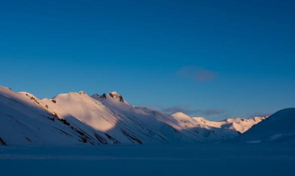 Norðurbarmur í kvöldólinni