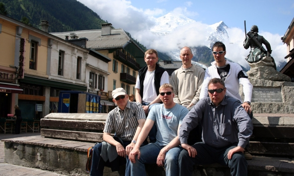 Í Chamonix á hvíldardaginn.