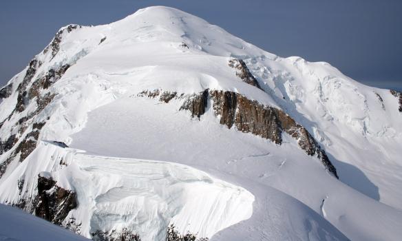 Mt. Blanc séð frá Mt. Maudit.