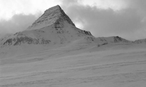 Addi á leið að Skessuhorninu fínt skyggni til að byrja með.