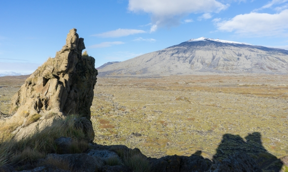 Snæfellsjökull blasir við