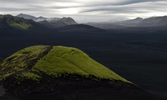 Við upphaf gönguleiðarinnar á Sveinstind