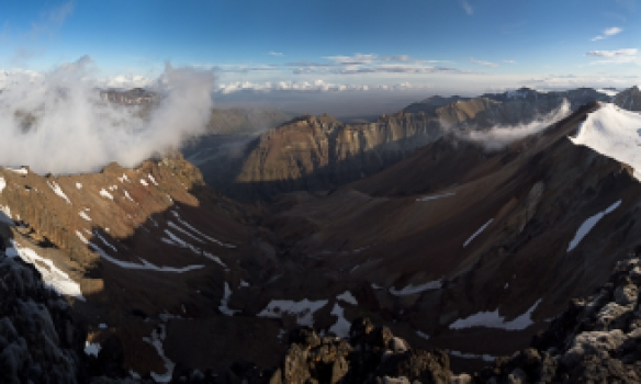 Panorama frá niðurleiðinni.
