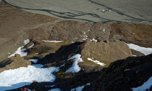 Þetta var frekar bratt og sumsstaðar svoldið af lausu grjóti.