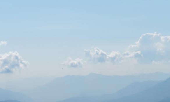 Útsýnið á leiðinni aftur til Pokhara