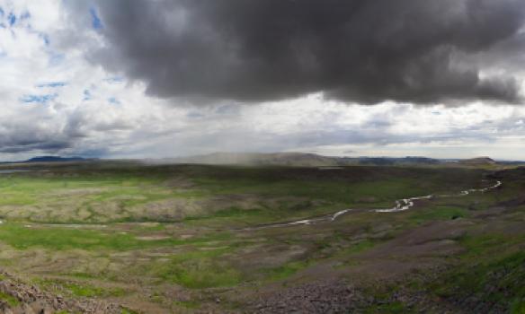 Panorama úr niðurgögnuleiðinni.