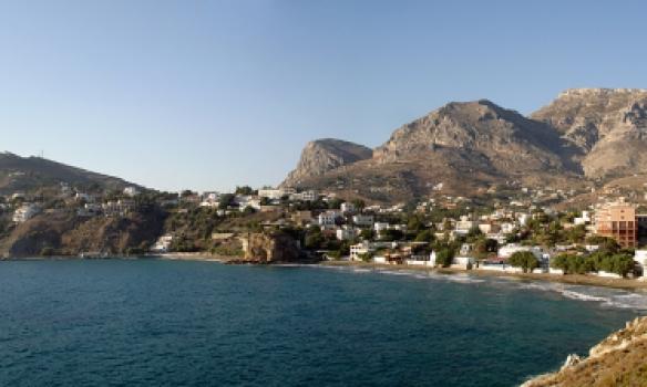 Chores beach á Kalymnos.