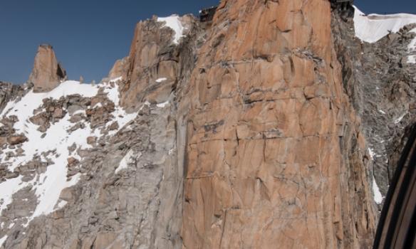 Kláfstöðin á Midi, þarna er mjög flott berg
