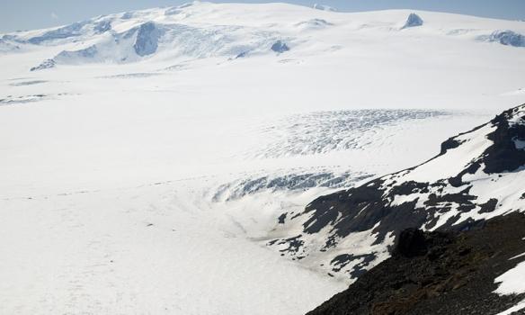 Þórhallur að ganga upp síðasta spölinn.