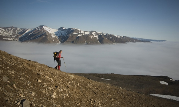 Þokan náði uppá 7-800metra hæð. Endastöðin var í um 300m hæð.