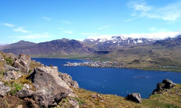 Aðeins komnir uppí hlíð.