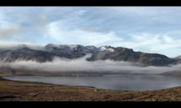 Smá panorama mynd af Helgrindum og Kirkjufelli.