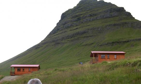 Héðan fórum við upp á Kirkjufellið.