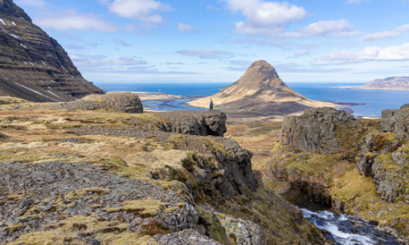 Arnar að pósa
