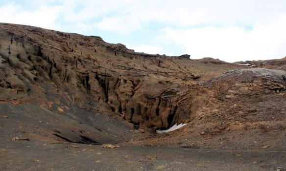 Einkennilegt berg rétt ofanvið Laugarvatn.