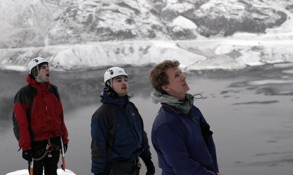 Frá mixklifurnámskeiðinu 2007, Óðinn greinilega þreyttur eftir Múlahallann.