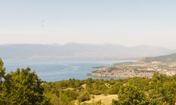 Flogið yfir Ohrid