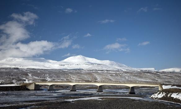 Mælifellshnjúkur séður frá Norðurárdal.