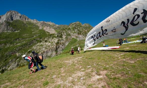 Hérna fengum við paragliding bóluna.