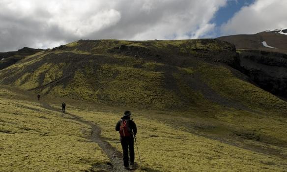 Sumsstaðar er möl, annarsstaðar mosi en allstaðar er fallegt á þessu svæði.