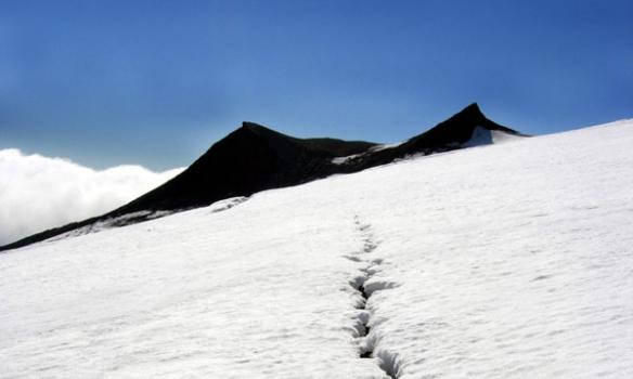 Flott útsýni er þarna síða sumars þegar allir hólarnir og tindarnir eru ekki snjóþaktir.