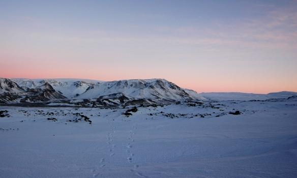 Héðan gengum við.. Stóra-Björnsfell beint að augum.