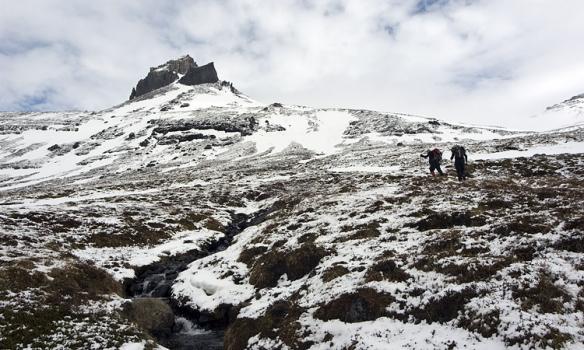 Jón og Þórhallur að ganga upp.