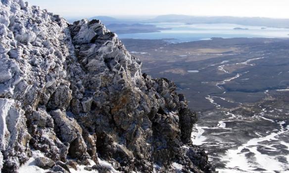 Horft í átt að Þingvallavatni.