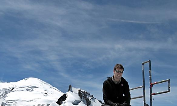 Og svo ég auðvitað... og með Mt. Blanc og Mt. Maudit í baksýn...