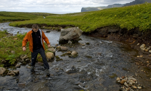 Haldið að Helgudal á leið á Álfsfell.