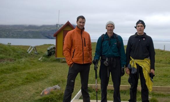 Ánægðir eftir góðan dag, Gummi St, Jón Helgi og Haraldur.