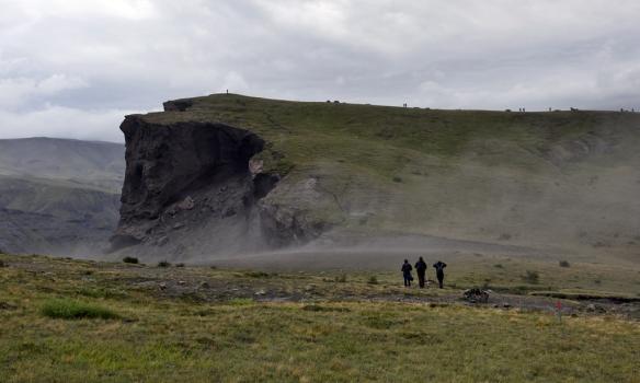 Gengið á Stangarhálsi á leið að Stangarnefi.